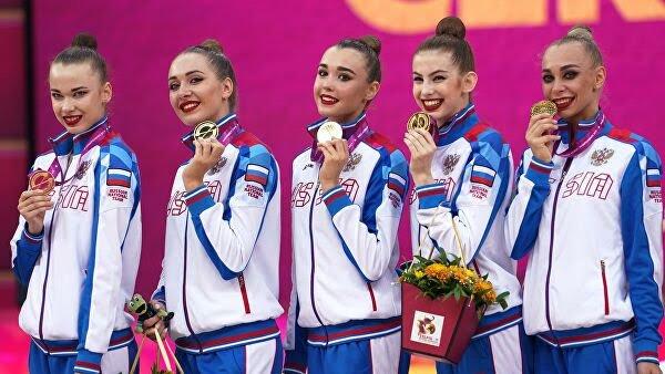 Художественная гимнастика. русские гимнастки завоевали золото вгрупповых упражнениях наЧМ