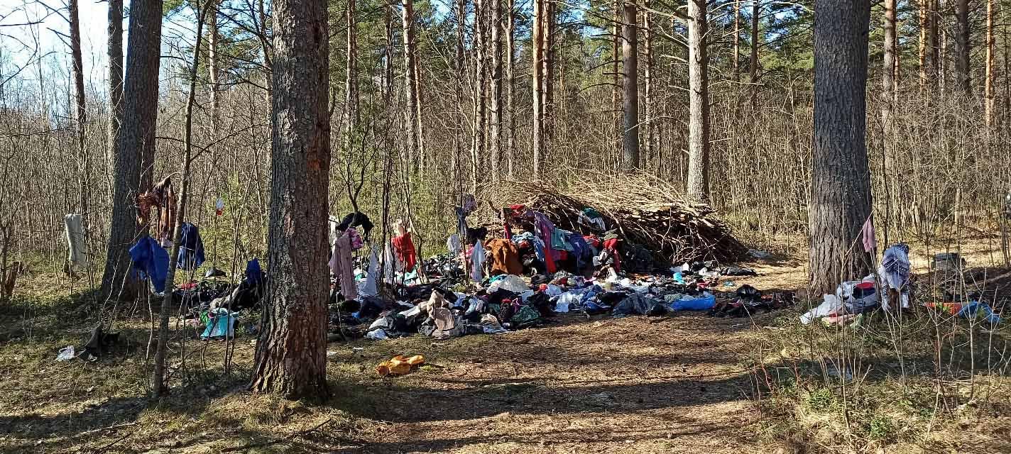 Свалка гуманитарных вещей обнаружена под Петрозаводском