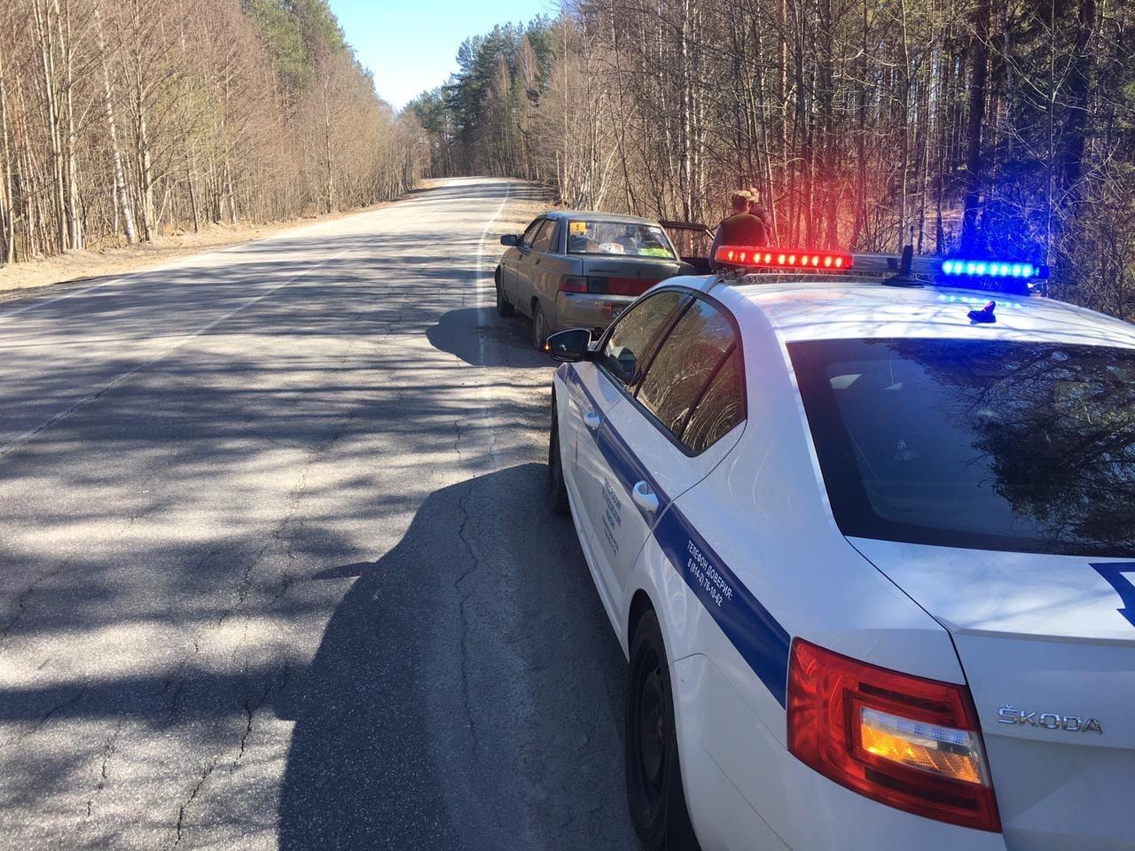 Пьяный водитель попался инспекторам на безлюдной трассе в Карелии