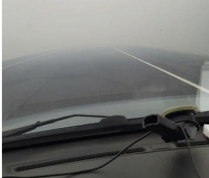 Дым от лесных пожаров стал причиной почти нулевой видимости на трассе «Кола» (ФОТО)